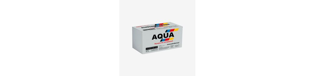Aqua waterproof polystyrene for foundation insulation