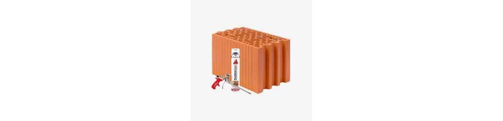 Porotherm Dryfix - Ground masonry blocks for foam